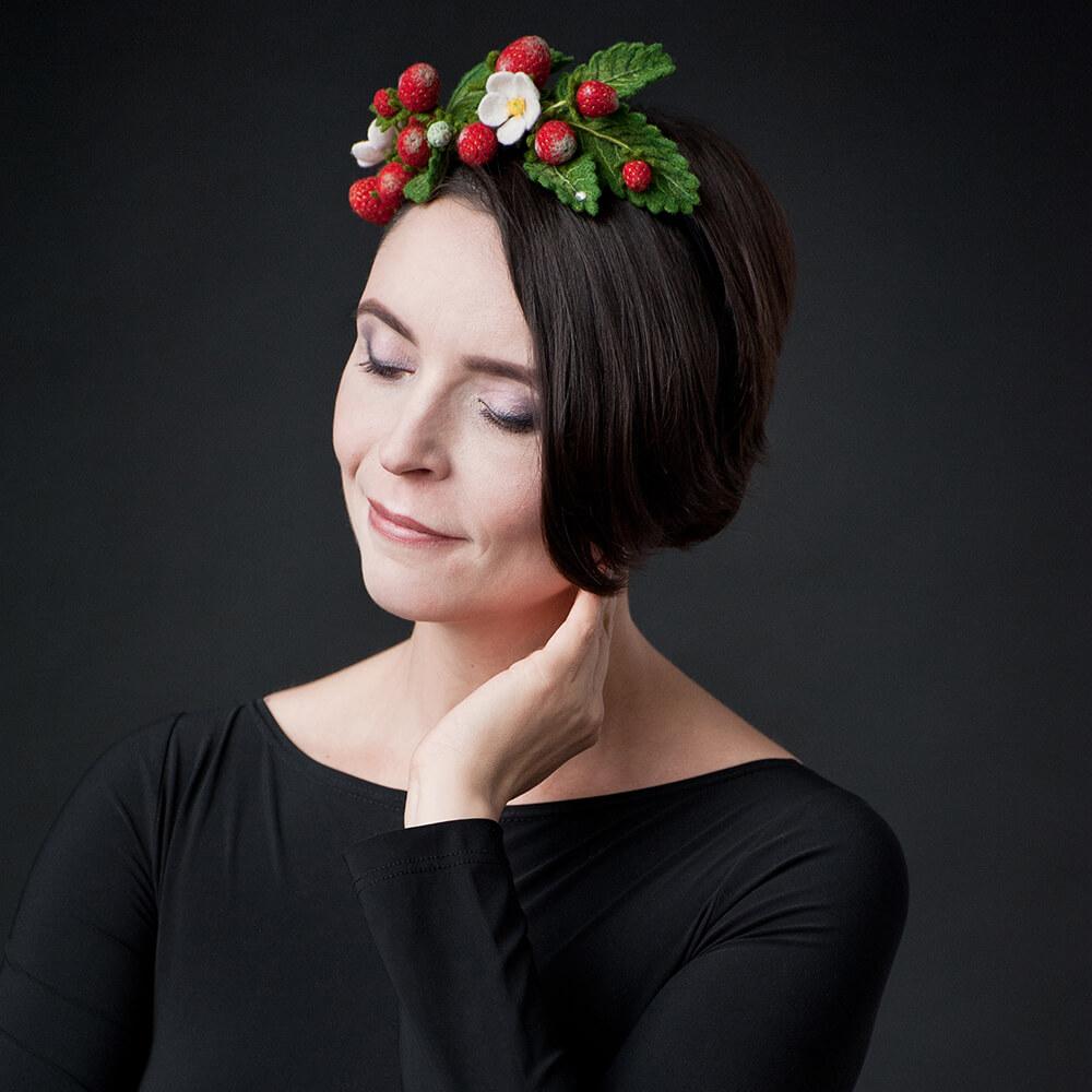 Ободок для волос «Вкус лета» Мастер Виктория Козырь.